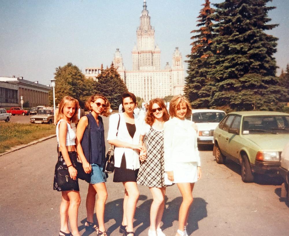 Ирина Сашина (справа) со студенческими подругами с филфака.