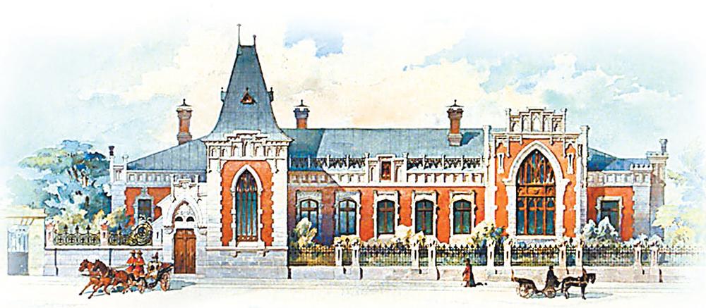 Дом Бахрушина (будущий Государственный центральный театральный музей его имени), 1896 г.