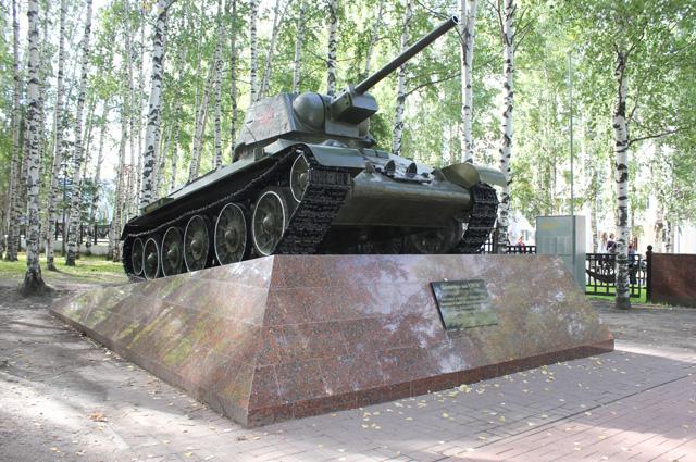 Танк-памятник Т-34-76.