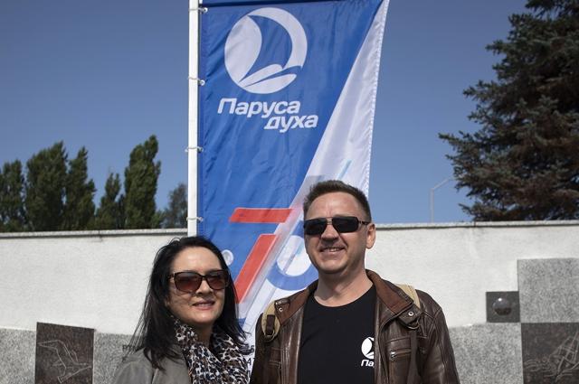 Сергей Кислицкий пришёл на фестиваль с женой.