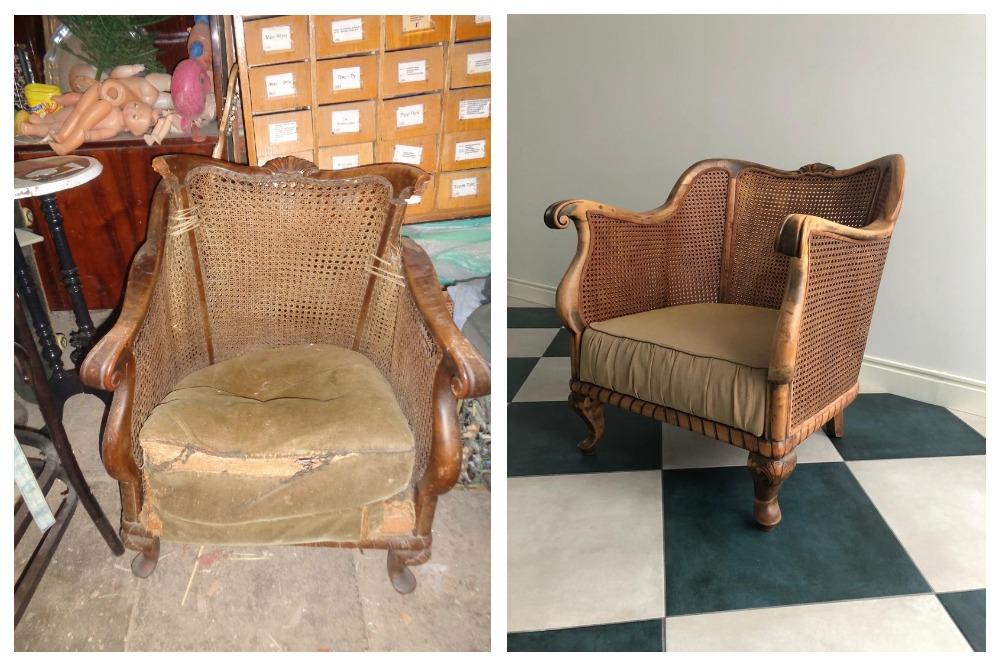 Даже не верится, что это одно и то же кресло.