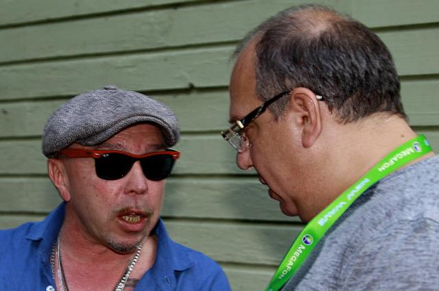 Гарик Сукачев и Дмитрий Гройсман на международном конкурсе молодых исполнителей популярной музыки Новая Волна 2012