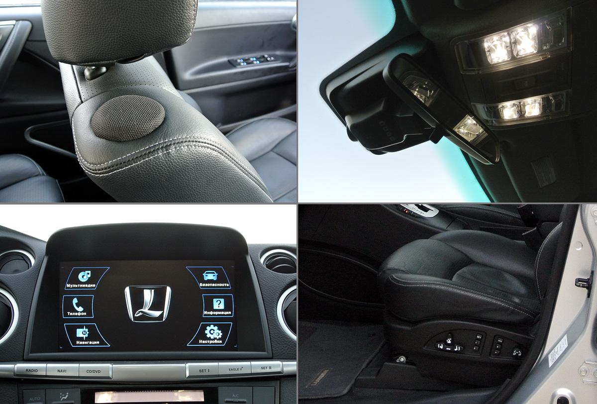 Luxgen7 SUV больше ориентирован на водителя и переднего пассажира в их распоряжении электропривод и обогрев сидений, у водителя вентиляция и массаж, отличная диодная подсветка для чтения и мультимедийная система Think+, которой можно управлять при помощи записанных голосовых команд