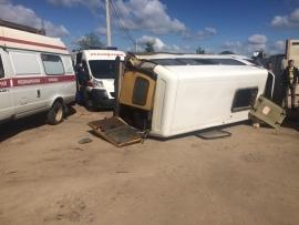 Перевернулся микроавтобус в Орле