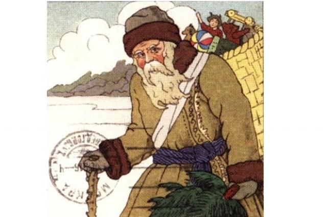 Новогодняя открытка 1910 года.