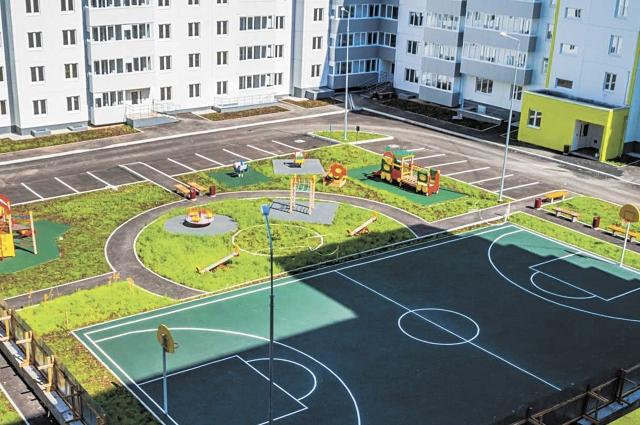 Новинка в проектах застройщика – баскетбольные площадки.