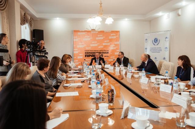 На круглом столе «Комсомольской правды» говорили о государственных услугах Фонда социального страхования.