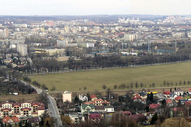 Вид на Краковский луг с кургана Костюшко (левая часть)