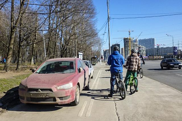 Велодорожка в Зюзино
