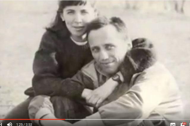Михаил Попков с женой.