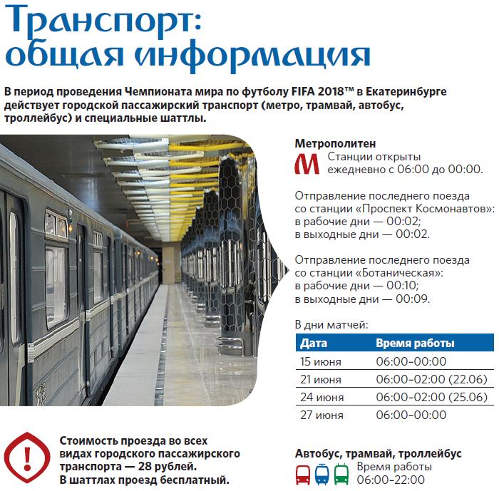 Общая информация работы общественного транспорта.