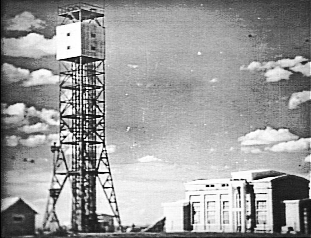 Башня, на которой был разме- щён заряд первой отечественной атомной бомбы РДС-1.