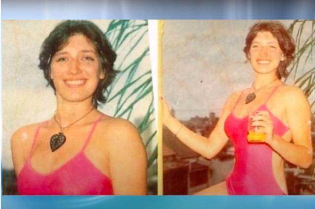Лиля Гасинская, знаменитое фото в красном купальнике.