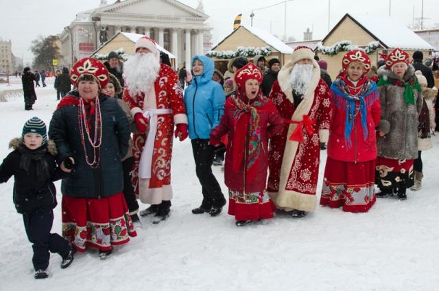 Народные гулянья в Волгограде.
