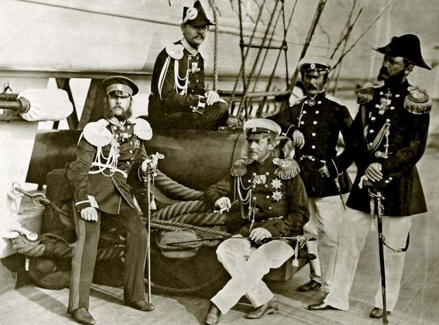 Великий князь Константин Николаевич на палубе фрегата «Генерал-Адмирал». Фото начала 1860-х годов