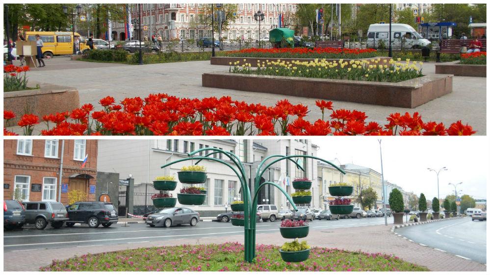 Новые цветники, вазоны, клумбы радовали глаз с ранней весны по позднюю осень во всех скверах и центральных улицах города.