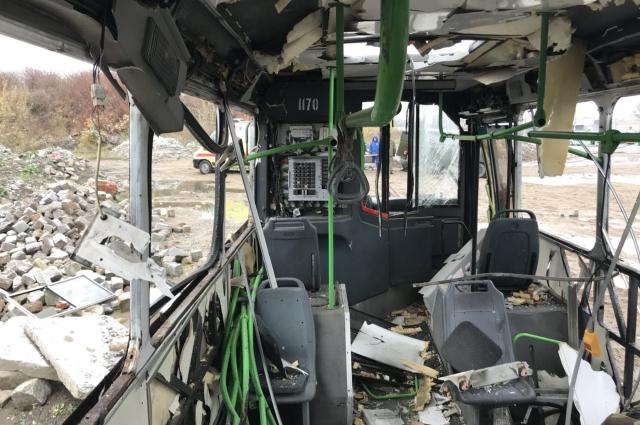 Автобус буквально разорвало на части.