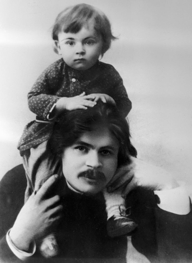 Максим Горький с сыном Максимом. 1899 г.