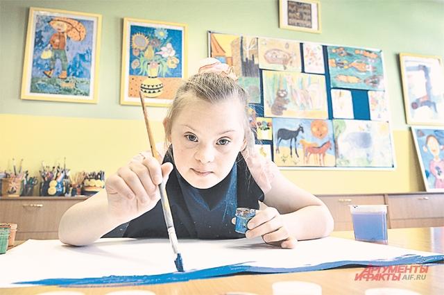 На кружке живописи в центре содействия семейному воспитанию «Южное Бутово».