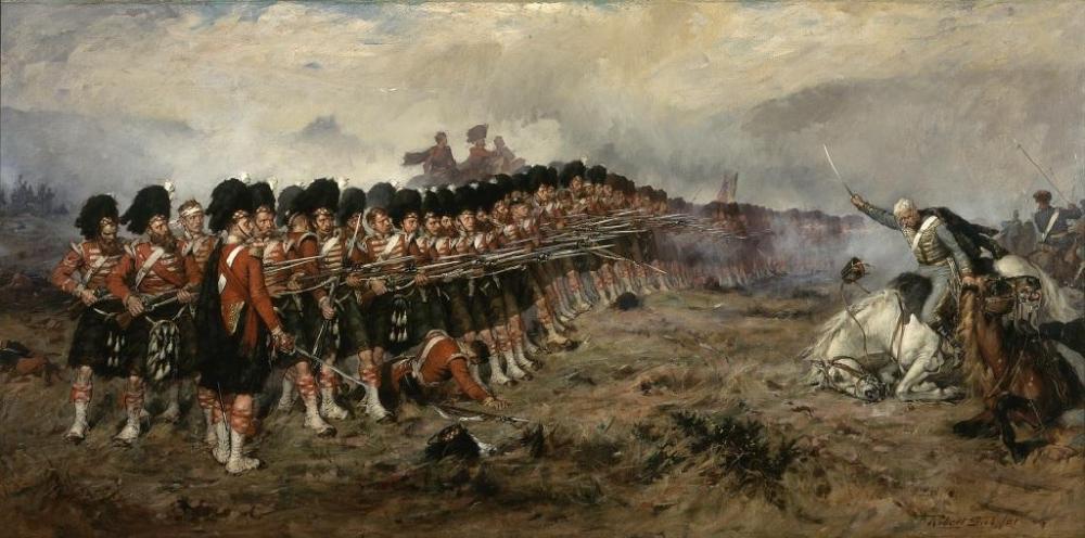Тонкая красная линия , картина Роберта Гиббса