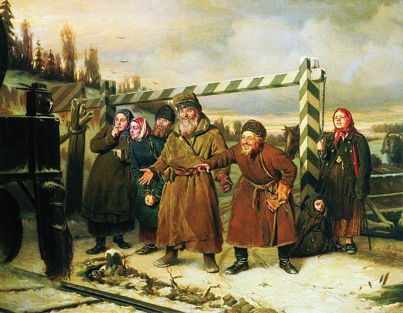 Тему шлагбаумов поднимали в своем творчестве еще классики.