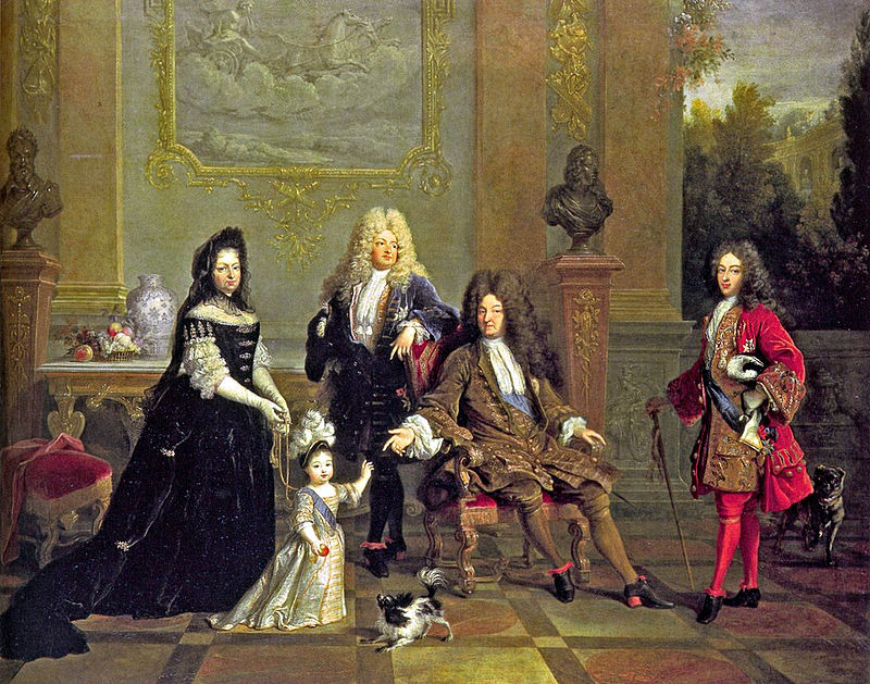 Николя де Ларжийер. Портрет Людовика XIV с семьёй
