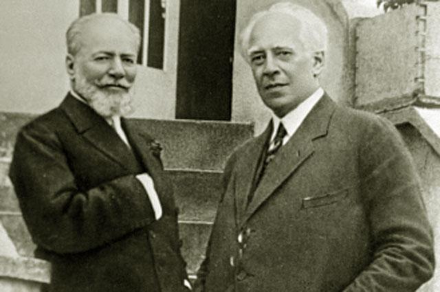 Основатели Московского Художественного театра Владимир Немирович-Данченко и Константин Станиславский. 1923 год