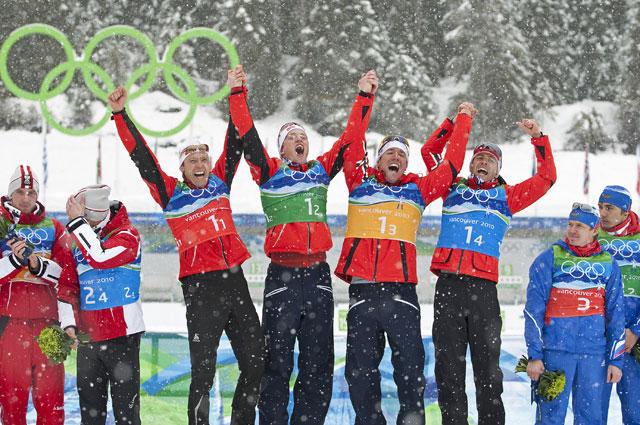 Пока последнее олимпийское золото Уле-Эйнара Бьёрндалена. Ванкувер, эстафета 4 по 7,5 км, 2010 год