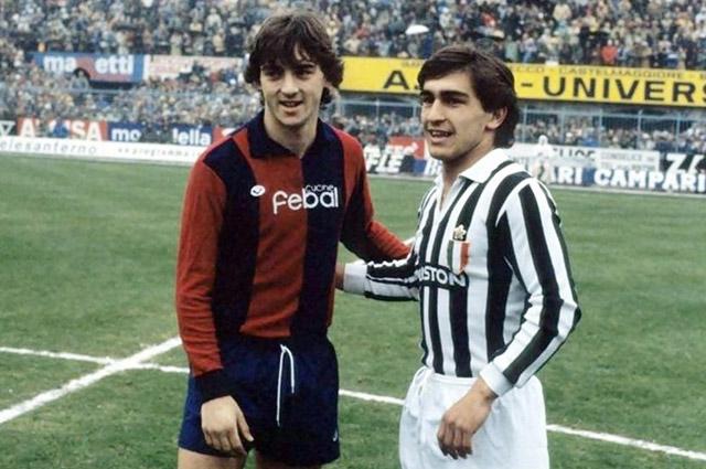 Роберто Манчини (слева), 1981 г.