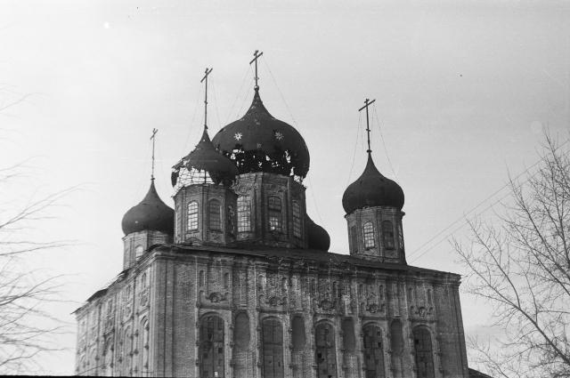 Купола Успенского собора. Фото 1965 г.