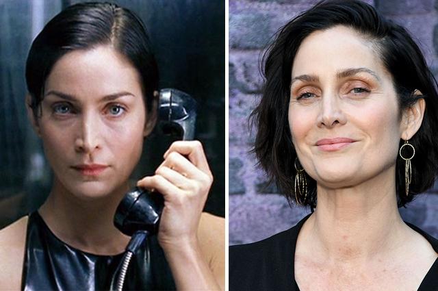 Керри-Энн Мосс. 1999 и 2020 г.г.