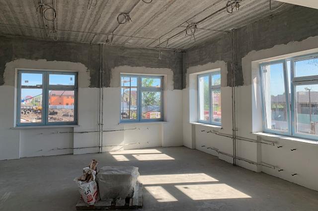 Строительство школы в Казарово.