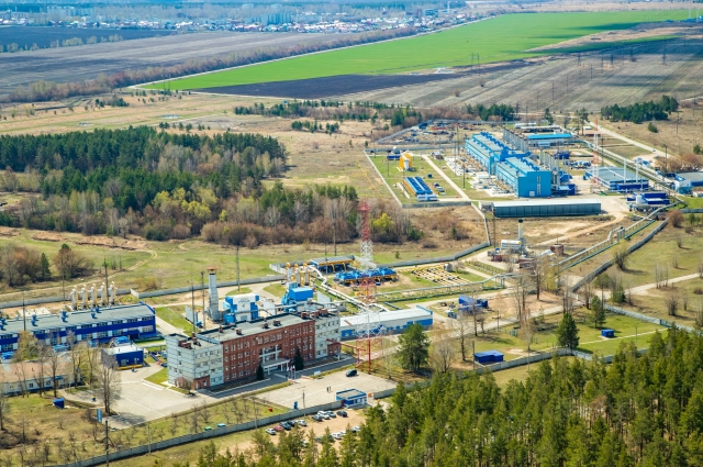 Вид на Тольяттинское линейное производственное управление магистральных газопроводов «Газпром трансгаз Самара»