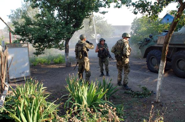 Ополченцы в Иловайске