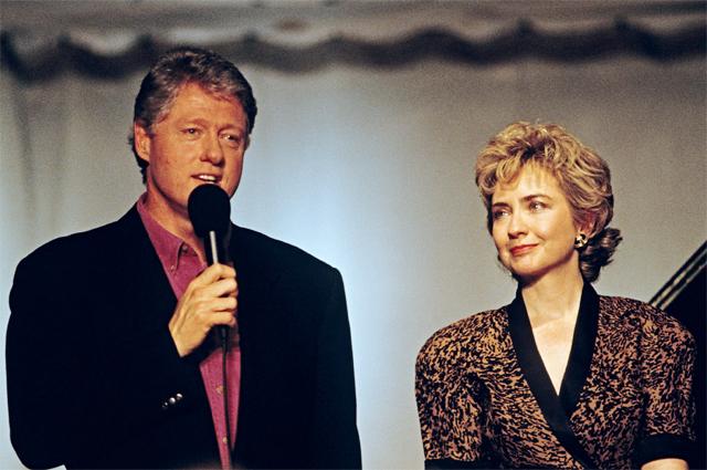 Билл и Хиллари Клинтон. 1993 г