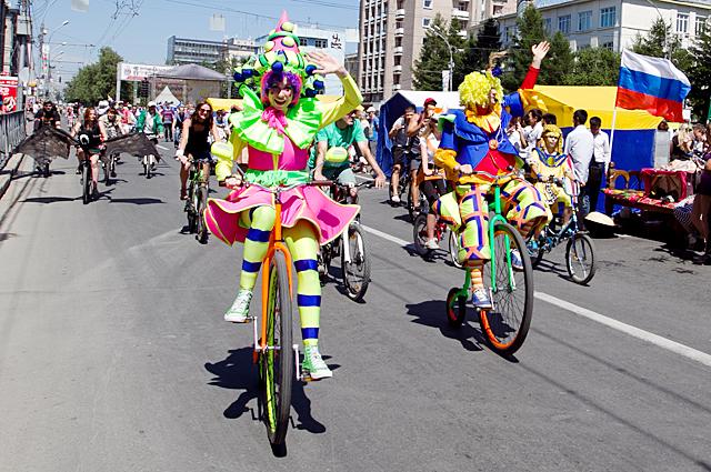 Велокарнавал в День города