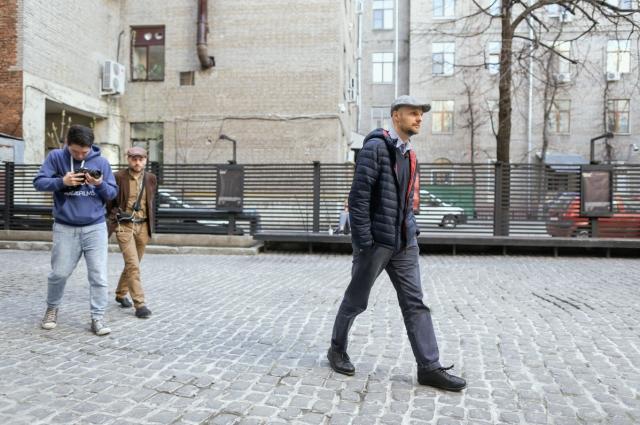 Иван Вырыпаев во время съемок документального фильма нем.