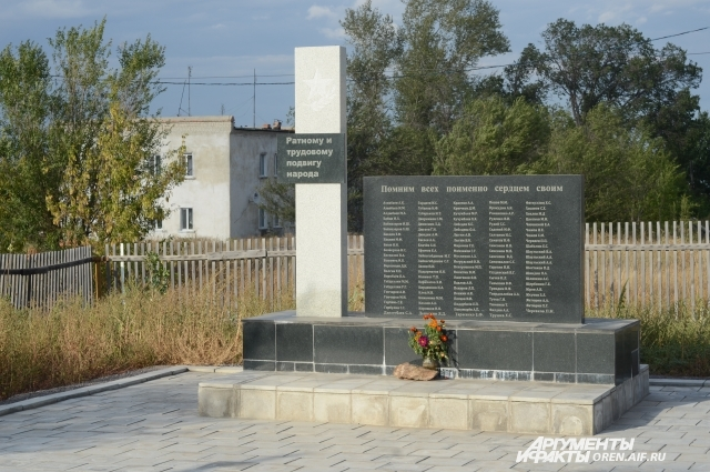 Памятник войнам ВОВ поставили во дворе храма.
