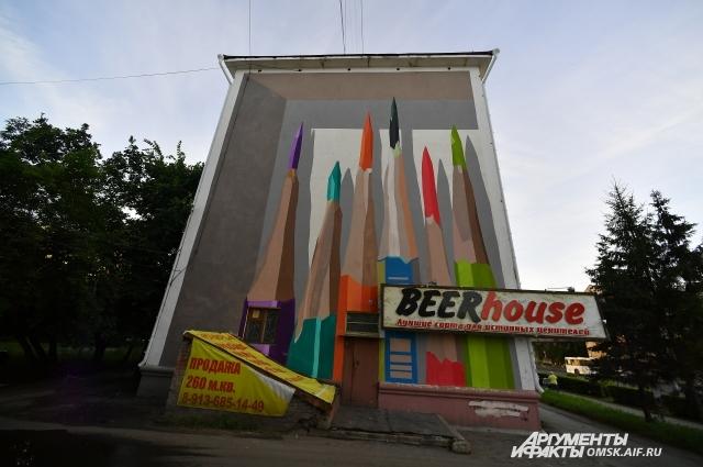 В Омске теперь есть гигантские карандаши.