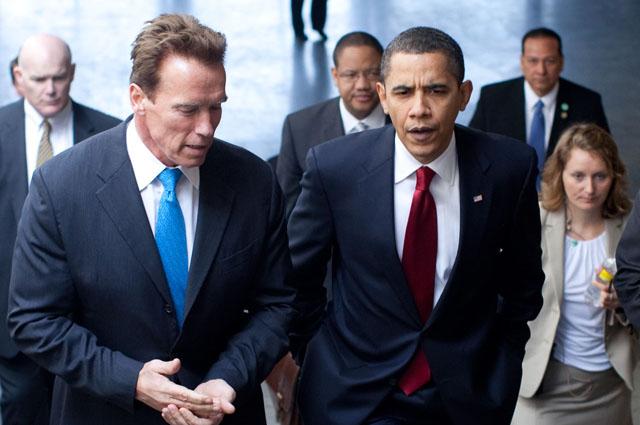 Арнольд Шварценеггер и Барак Обама.