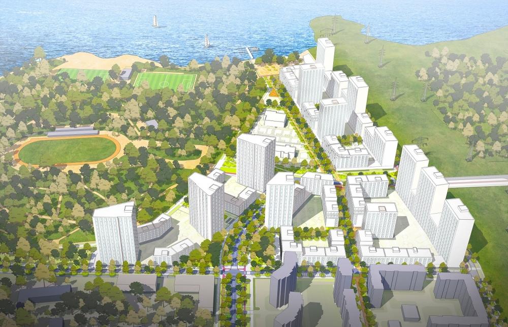 Парк будет огибать будущие новостройки.