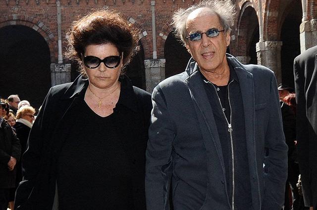Адриано Челентано и Клаудиа Мори в Милане. 2013 год.