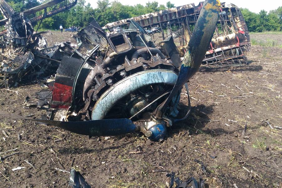 Фото с места крушения самолета