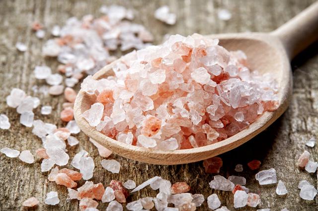 Розовая гималайская соль.