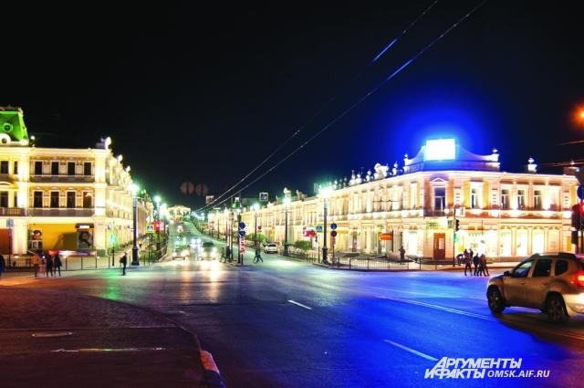 Любинский проспект - основная достопримечательность Омска.