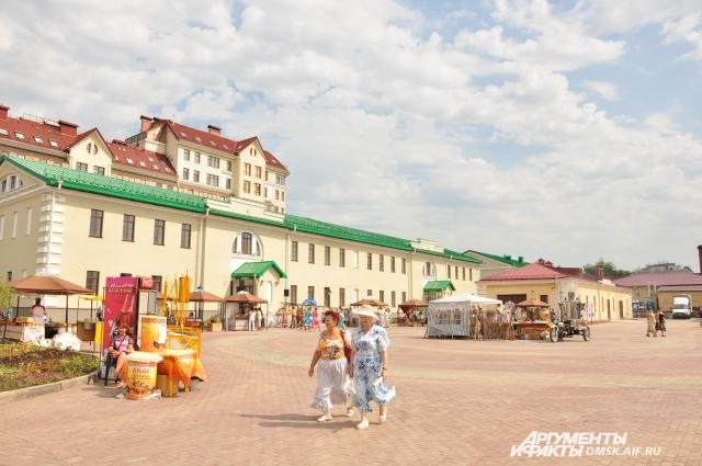 Так выглядит территория Омской крепости - форпоста Западной Сибири.