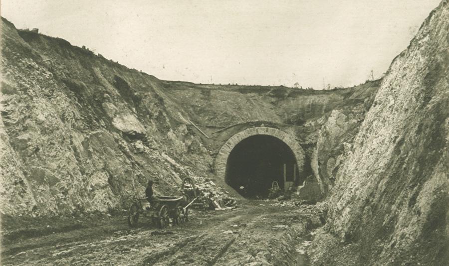 Строительство тоннеля на Амурской железной дороге.