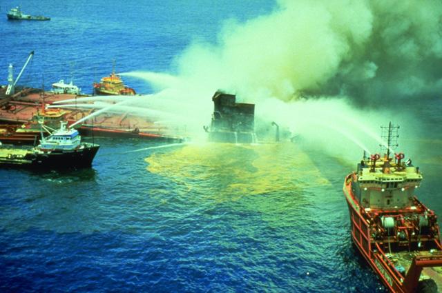 Разлив нефти в Мексиканском заливе в 1979 г.
