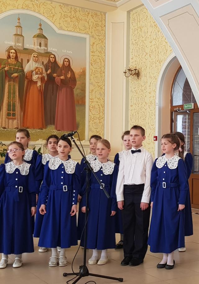 Выступление детского хора.