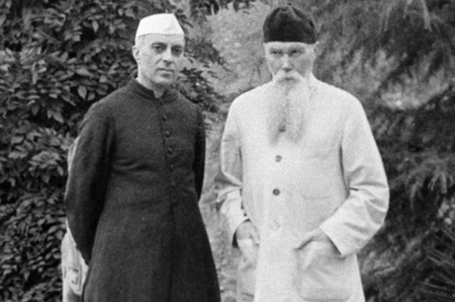 Премьер-министр Индии Джавахарлал Неру и Николай Рерих в долине Кулу. 1942 год